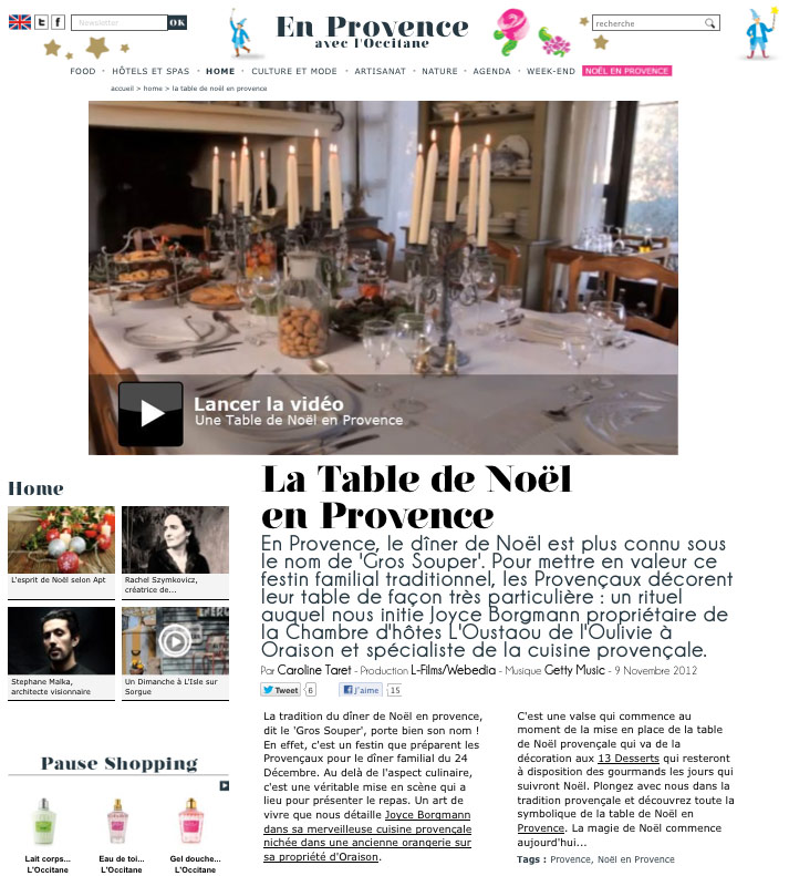 La Table de Noël en Provence