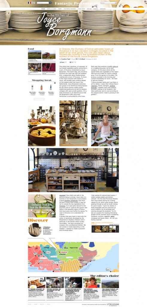 Article published by 'L Occitane de Provence